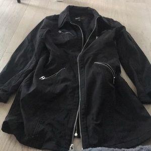 Miss Sixty black long coat size M